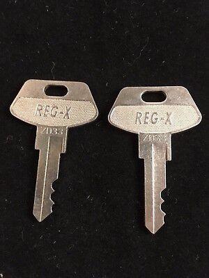 Tec Cash Register Reg-x Key Zd33 Set Of 2