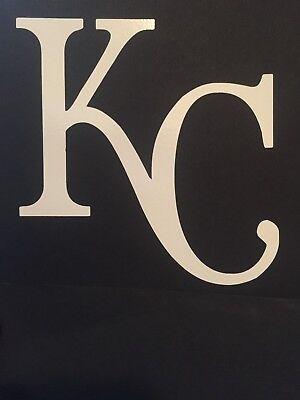 KANSAS CITY ROYALS MLB WHITE VINYL STICKER / - Kansas City Royals Stickers