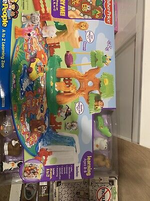 Fisher Price Little People A to Z Zoo Alphabet Learning 26 Animals NO ZOOKEEPER