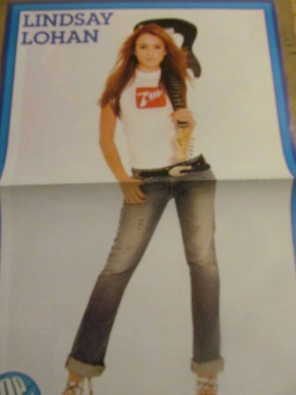 Lindsay Lohan, Play, Two Page Centerfold Poster