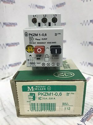 Kloeckner Moeller Pkzm1-0.6 Manual Motor Starter