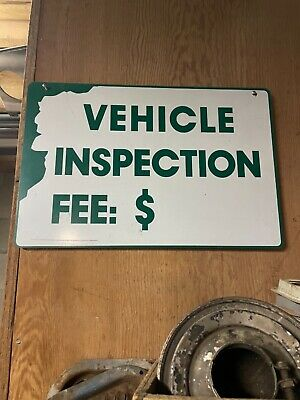 RARE VINTAGE NEW HAMPSHIRE STATE INSPECTION SIGN