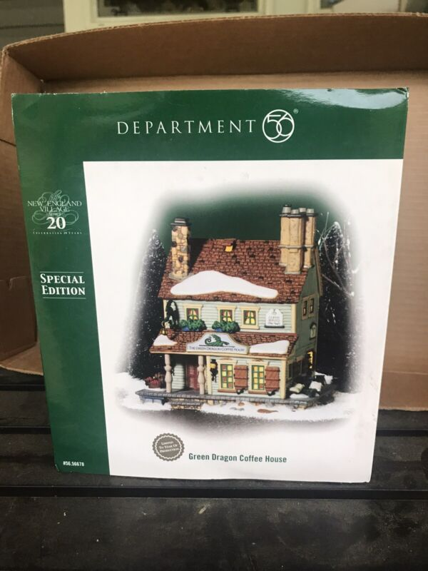 Dept 56~New England Village~GREEN DRAGON COFFEE HOUSE~Special Edition~MINT