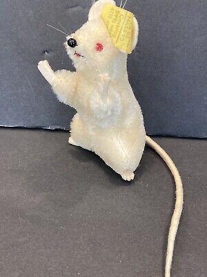 Steiff Vintage Pieps The White Mouse Flag, Button Art 2174/08