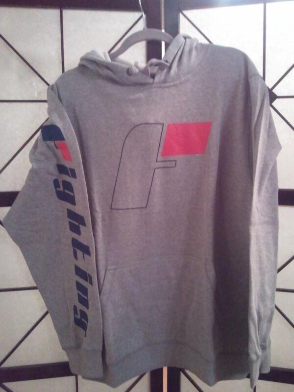 Title MMA/Boxing Fighting Sports Active Hoodie Hoody Sweatshirt Grey Size: Large