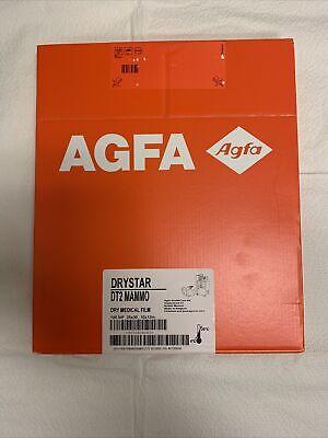 Agfa Drystar Dt2 Mammo Dry Medical Film Pack 100 Nif 25x30 10x12 Inch Print
