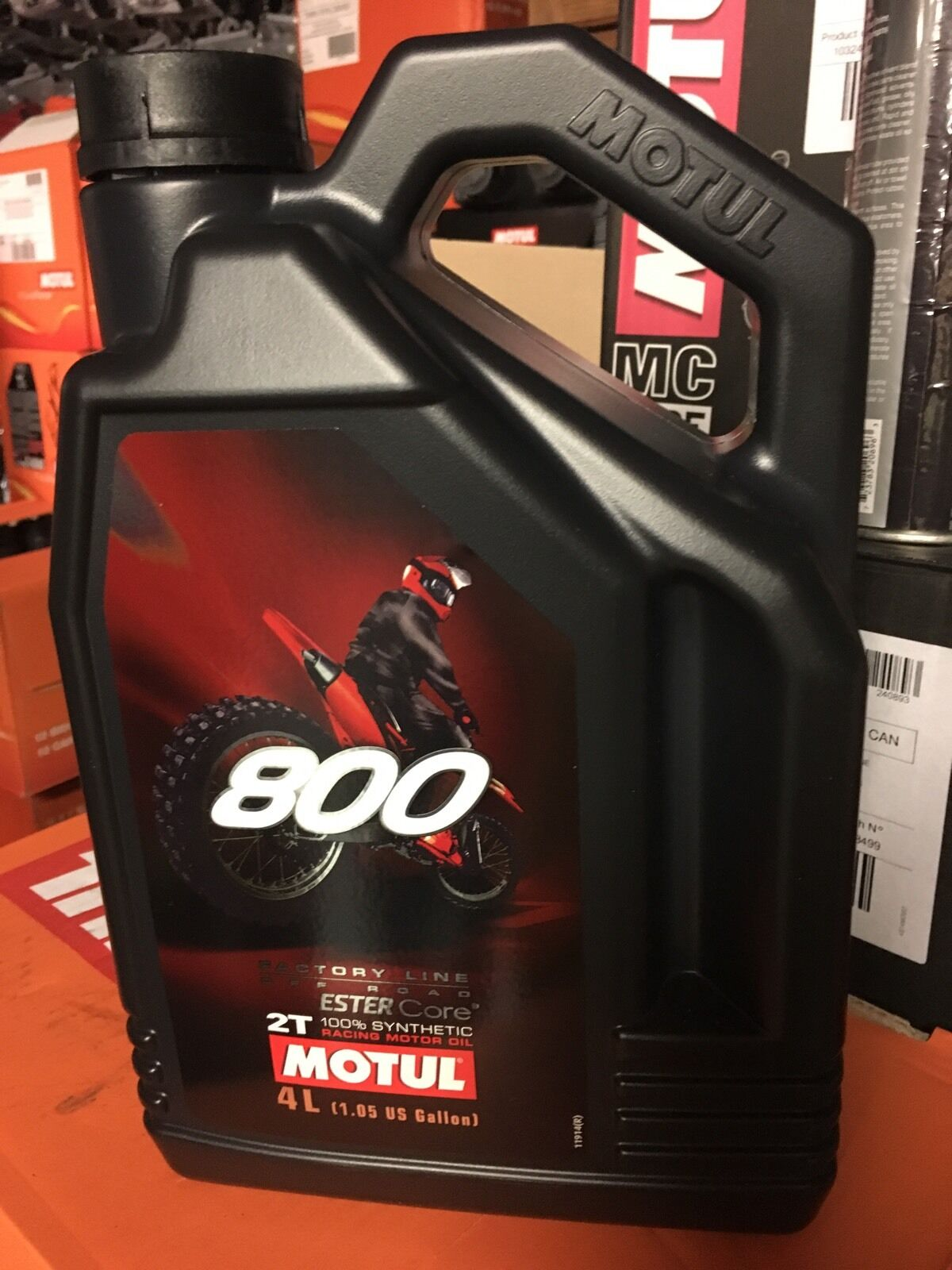 MOTUL 800 2T FACTORY LINE OFF ROAD 2 stroke 1  GALLON BOTTLE FULL SYNTHETIC