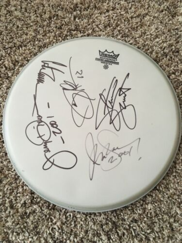 Warrant Entire Original Band Signed Autographed REMO Drumhead x5 Jani Lane