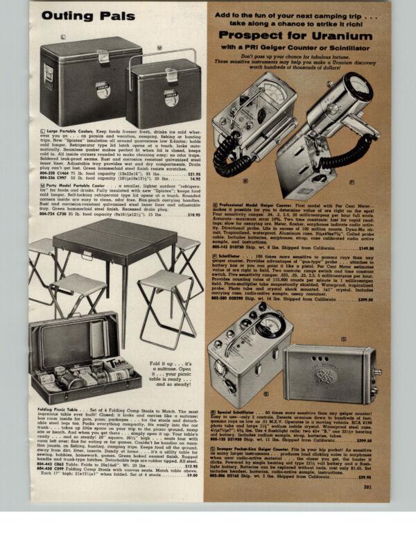 1957 PAPER AD PRI Geiger Counter Prospect For Uranium Scintillator The Snooper