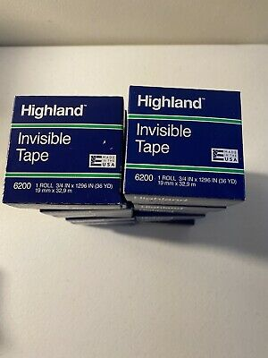 Highland Invisible Tape 6200 34 X 1296 Lot Of 16