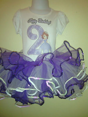 Sofia the First birthday dress 2pc purple / White for ages 1,2,3,4,5,6,7,8,9,10 (Sofia The First Birthday Dress)