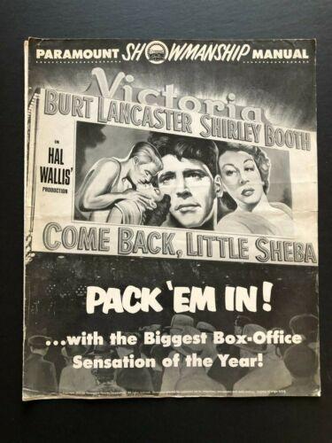 "Come Back, Little Sheba Original Movie Pressbook (1953)-18 Pages - 12"" x 15"" VG"