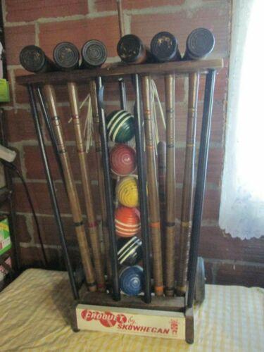 Vintage Skowhegan Croquet Set by Forster Mfg. Co. Maine