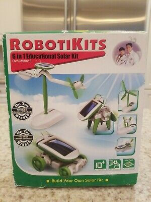 OWI Robotics Learn Electronics Solar Panel Energy 6x Building Toy Set WIND Plane