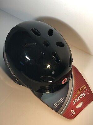 Razor Youth Bike Skateboard Multisport Helmet Black Red Strap