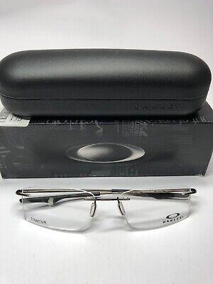 OAKLEY Titanium Eyeglasses KEEL OX3122-0755 55-18 136 Rimless Pewter Frames (Titanium Oakley Frames)