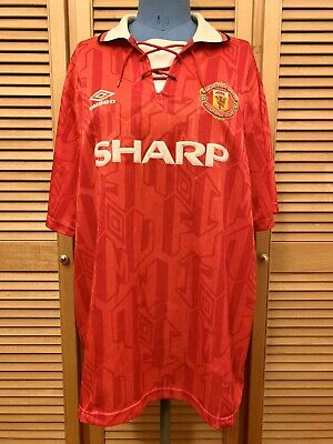 Manchester United 1992-1993 home football shirt jersey maillot camiseta trikot