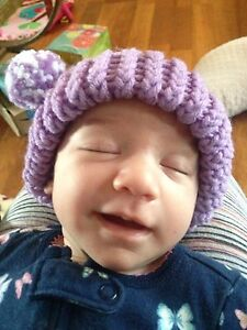 Pastel color  infant and baby hats