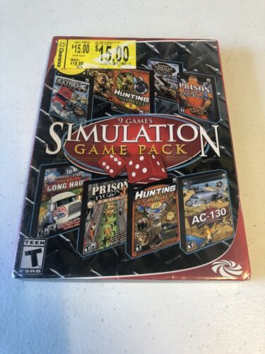 Computer Games - 9 Games Simulation Game Pack PC Games  Computer Games Sim Pack New in PACKAGE