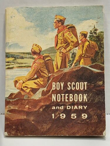 1959 BSA Boy Scout Notebook and Diary No. 3012 c1958 Pocket Size Book VGUC