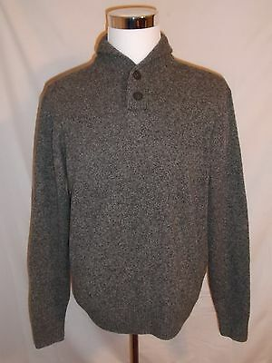 Mens (L) Pronto Uomo 100% Lambswool Longsleeve 2 Button Pullover Sweater