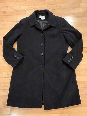 Worthington Women's Size Large Black Wool Coat Mid Length Dressy Jacket EUC!