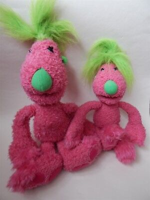 """The Hoobs talking 16"""" pink Tula and 10"""" Tula soft toy"""
