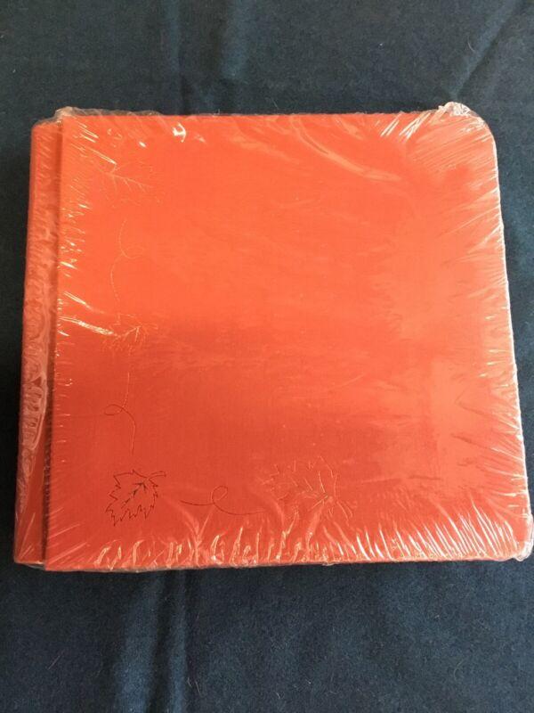 Creative Memories 7x7 Orange Spice Scrapbook Album w 12 Pg. Leaves Autumn Old