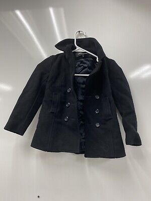 European Culture Boys Black Coat Long Sleeve Size 6