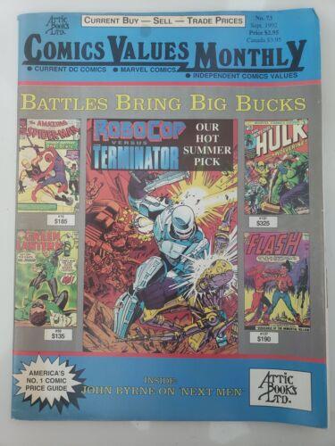 COMICS VALUES MONTHLY No. 73 Sept 1992 COMICS MAGAZINE ATTIC BOOKS LTD ROBOCOP!