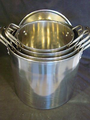 Stainless Steel Cooking Cleaning Aid Stock Pot Kitchen Lid Set 6 8 12 16 Quart