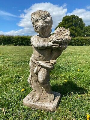 Delightful 20th Century Composite Stone Cherub Putti