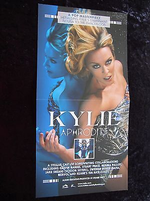Kylie Minogue poster - Aphrodite - promotional poster / flat- 12 x 24 inches