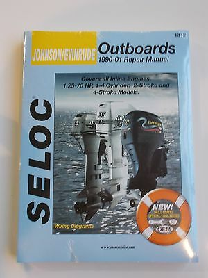 SELOC 1312 JOHNSON OUTBOARD SERVICE REPAIR MANUAL 1990 to 2001 1.25 to 70hp
