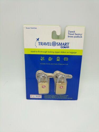2 pack travel sentry brass padlock tsa
