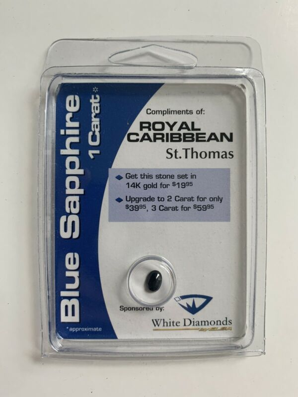 SEALED BLUE SAPPHIRE STONE OVAL 7X5mm 1 CARAT St Thomas APPRAISED $100