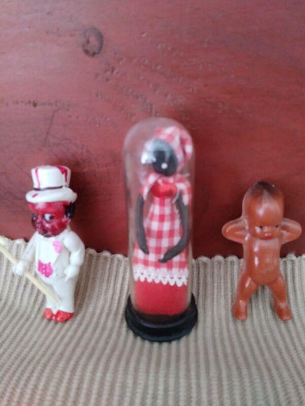Vintage Americana Black Miniature Doll Figures