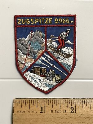 Zugspitze Germany Wetterstein Mountains Peak 2966 Meters Souvenir Patch Badge