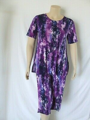 Travel Knit Capri Set, short sleeve Tunic A-Line,NEW, stretchy no-iron poly -