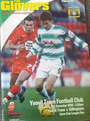 Yeovil Town v Gillingham, 2006-07