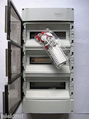 Verteiler Feuchtraum Aufputz 3reihig IP65  42TE F-tronic NEU