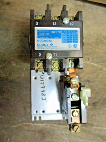 GOULDS SIZE 00 MANUAL MOTOR STARTER A202AC12, #1217948JW NEW