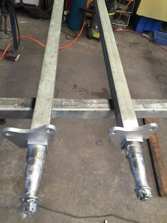2 x89 inch gal axles with brake plates wrong size $340  Balgownie Wollongong Area Preview