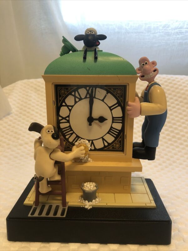 Wallace And Gromit  Musical Motion Alarm Clock Vintage 1989 Wesco