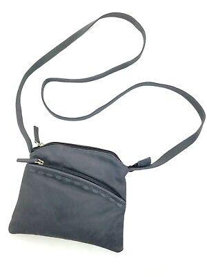 Genuine Leather Gray Cross body Messenger Bag Purse Handmade in India ()