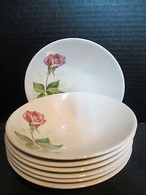 Vintage Knowles Tea Rose Pink 7 Fruit Bowls