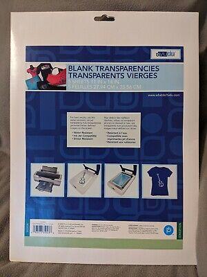 New Yudu Printer Blank Transparencies Transparent T-shirt 5 Sheets 11