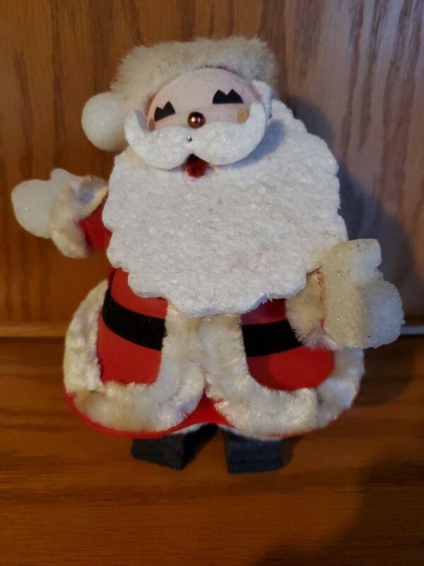 Vintage Styrofoam Handmade Santa Claus Mid Century Table Decor