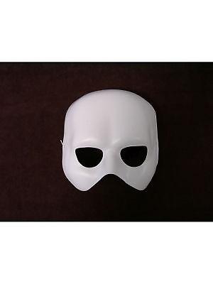 Halbmaske weiß Phantom Maske Halloween Karneval Grusel