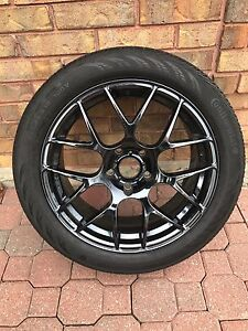 4 BMW summer rims and tires